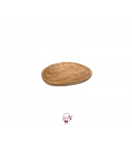 Wood Oval Rustic Footed Tray