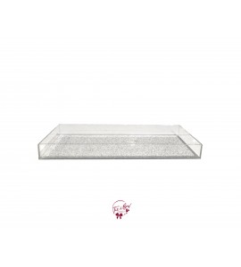 Clear: Rectangular Acrylic Glittery Tray
