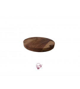 Wood: Round Wood Footed Tray