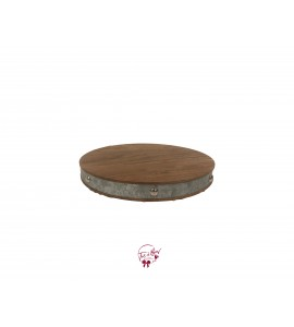 Wooden Tray With Metal Strap
