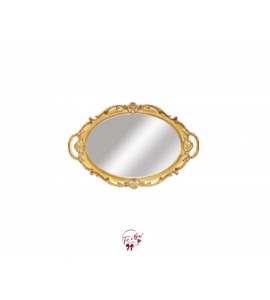 Gold Vintage Look Mirrored Tray