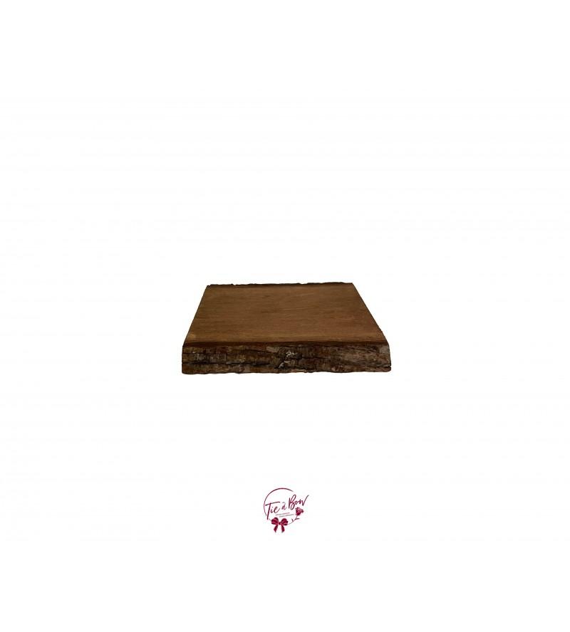 Wood Live Edge Rectangular Tray