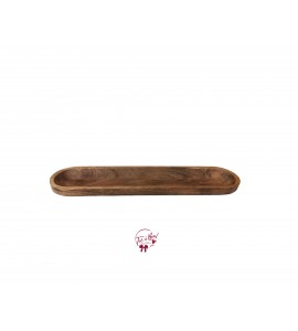 Wood: Long Oval Wooden Tray