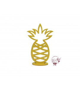 Yellow Pineapple Keyhole Silhouette