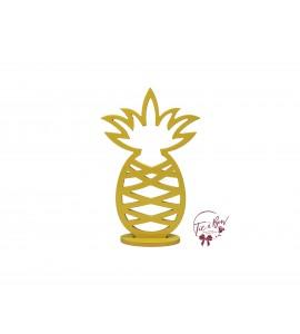 Yellow Pineapple Keyhole Silhouette