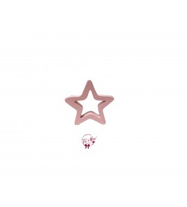Star: Small Light Pink Star Keyhole Silhouette