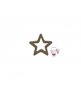 Star: Small Gold Star Keyhole Silhouette