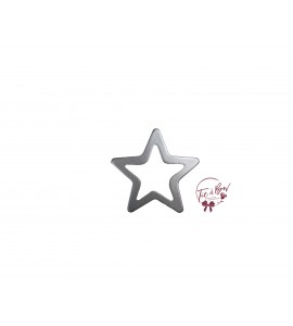 Star: Small Silver Star Keyhole Silhouette