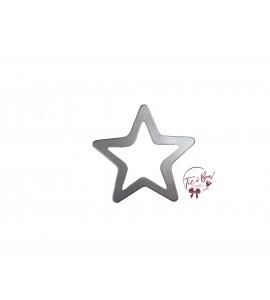 Star: Medium Silver Star Keyhole Silhouette