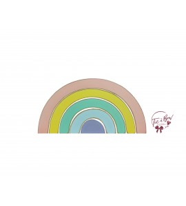 Rainbow: Pastel Colors Rainbow Silhouette