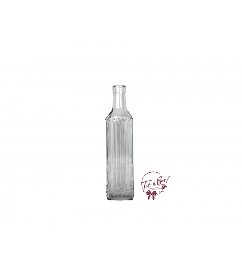 Clear Bottle: Clear Square Fluted Bottle