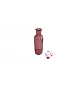 Pink Bottle: Round Pink Collared Bottle