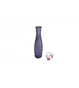 Purple Bottle: Purple Round Striped Bottle