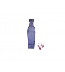 Purple Bottle: Purple Square Fluted Bottle