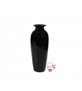 Black Vase: 10 Inches Tall Black Vase