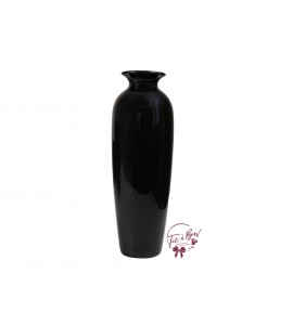 Black Vase: 12 Inches Tall Black Vase