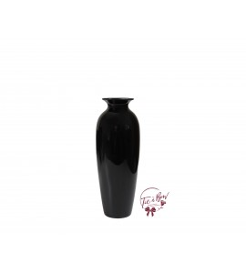 Black Vase: 8 Inches Tall Black Vase