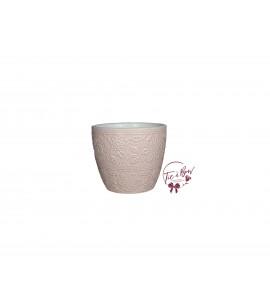 Pink Vase: Light Pink Vase With Floral Design