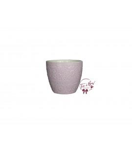 Lavender Vase: Light Lavender Vase With Floral Design