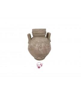 Beige Rustic Urn Vase