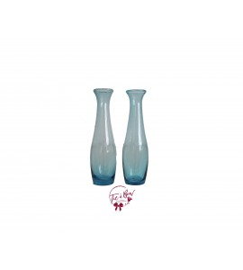 Blue Vase: Blue Curvy Bud Vase Set of 2