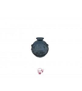 Blue: Dark Blue Hobnail Bud Vase