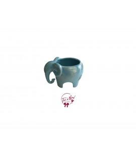 Blue Vase: Blue Pearled Elephant Vase