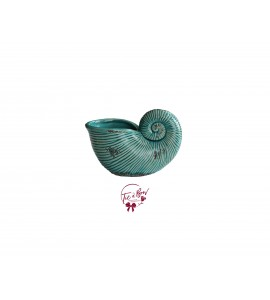 Blue Vase: Turquoise Blue Nautilus Shell Vase