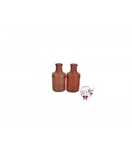 Orange Bottle: Coral Bottle Set of 2