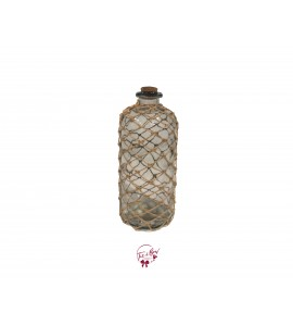 Clear Bottle with Rope Design