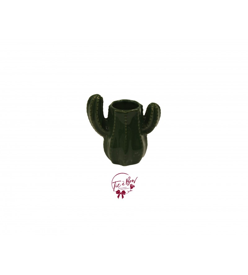Green: Forest Green Cactus Vase