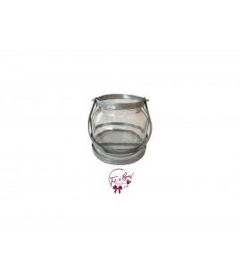 Galvanized Vase: Galvanized and Glass Vase