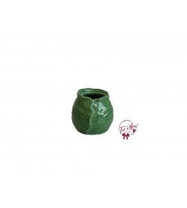 Green Vase: Small Green Leaf Vase