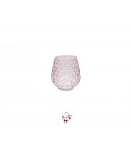 Pink Vase: Pink Triangle Design Vase
