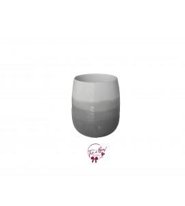 Gray Vase: Small Gray Ombre Vase