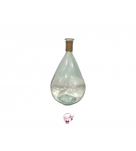 Clear Teardrop Shaped Vase (Large)