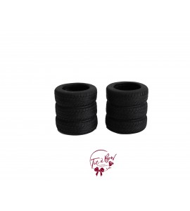 Black Vase: Black Tire Vase Set of 2
