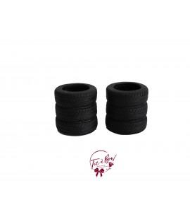 Black Vase: Black Tire Vase Set of 2