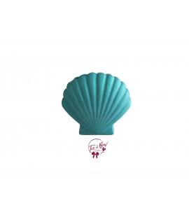 Blue Vase: Turquoise Blue Glittery Clam Shell Vase