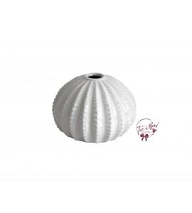 White: Whitewash Seashell Vase
