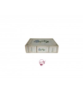 Book: Vintage Look Watercolor Flower Book Box (Medium)