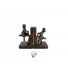 Bookend: Boy and Girl Bookend (Vintage Look)