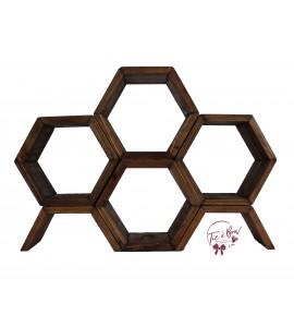 Beehive Hexagonal Wooden Stand