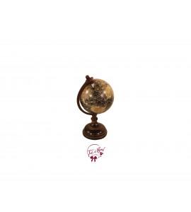 World Globe: Small Vintage Look World Globe