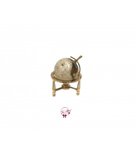 World Globe: Mini Brass and Marble