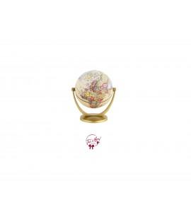 World Globe: Mini Golden World Globe