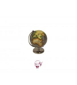 World Globe: Small Silver World Globe