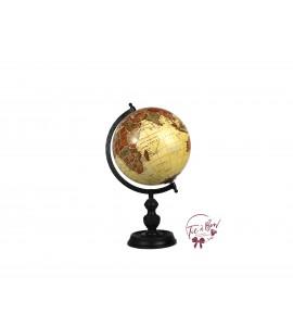 World Globe: Medium Wooden Vintage