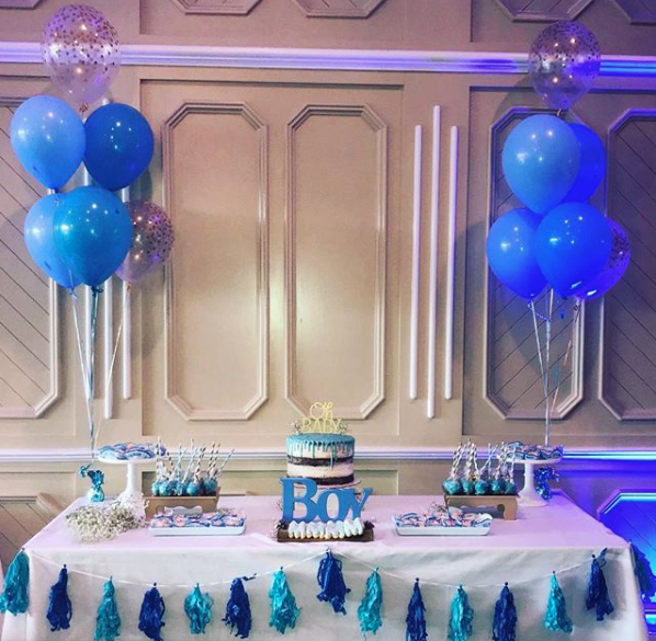 Boy Baby Shower Table
